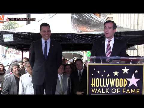 JIMMY KIMMEL HONORED WITH HOLLYWOOD WALK OF FAME STAR