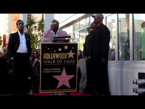 Boyz II Men Emotional on the Hollywood Walk of Fame
