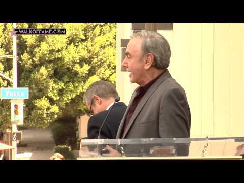 NEIL DIAMOND HONORED WITH HOLLYWOOD WALK OF FAME STAR