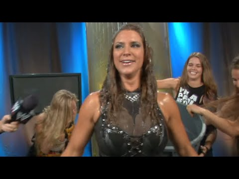 "Stephanie McMahon accepts the ""Ice Bucket Challenge"""