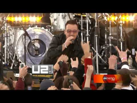 U2 - Get On Your Boots Live Fordham University [HD - High Quality] Good Morning America