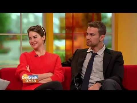 Theo James & Shailene Woodley on Daybreak
