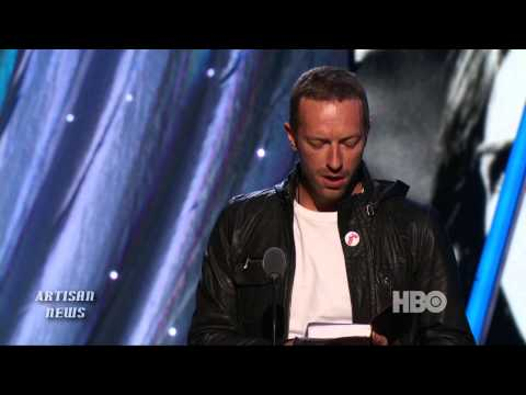 PETER GABRIEL GETS BIBLICAL ROCK HALL INDUCTION BY CHRIS MARTIN OF COLDPLAY