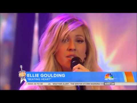 Ellie Goulding Today Show Performance - Beating Heart (Divergent) LIVE 3-12-14