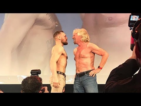 Conor McGregor vs. Richard Branson Face Off in Dublin