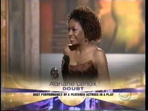 Adriane Lenox wins 2005 Tony Award for Best Featured Actress in a Play