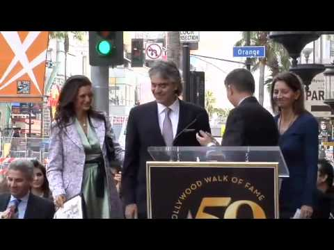 Andrea Bocelli Hollywood Walk of Fame Star Ceremony