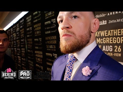 MCGREGOR PREDICTS THE PUNCH TO STOP MAYWEATHER: AN UPPERCUT OR A HOOK WRAPPED AROUND THE TEMPLE!