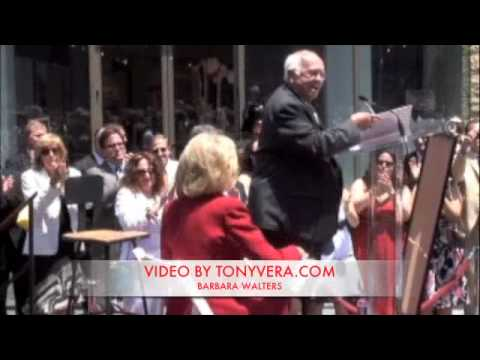 Barbara Walters finally receives a Star on The Hollywood Walk of FAME