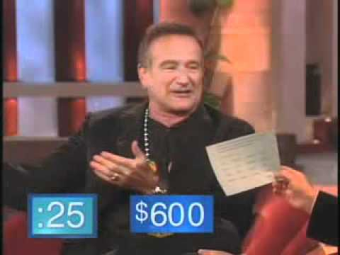 Robin Williams performs a whirlwind accent marathon