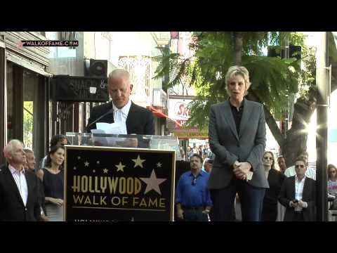 JANE LYNCH STAR ON THE HOLLYWOOD WALK OF FAME CEREMONY