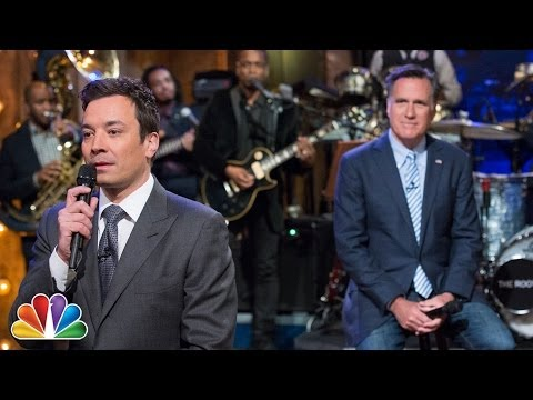 """""""Slow Jam The News"""" with Mitt Romney (Late Night with Jimmy Fallon)"""