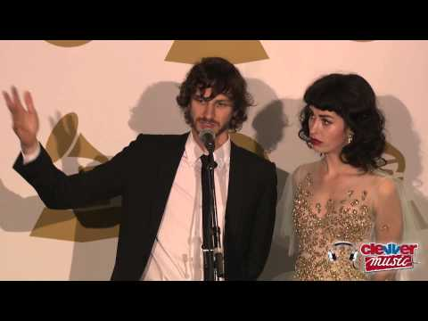 Gotye & Kimbra Interview- 2013 Grammy Awards Backstage