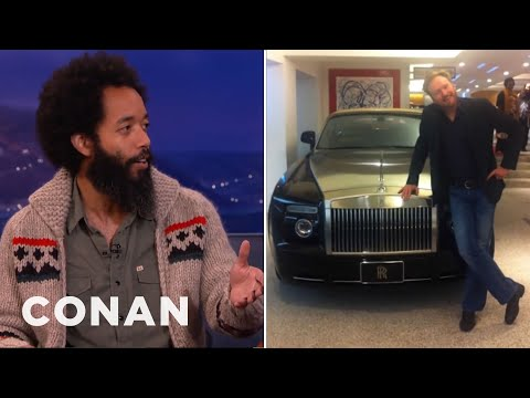 Wyatt Cenac's Conan Rolls Royce Portrait - CONAN on TBS