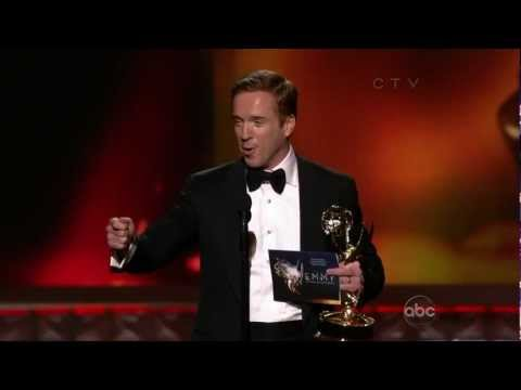 Damian Lewis wins Outstaning Lead Actor in a Drama Series at the 2012 Emmys (23 September 2012)