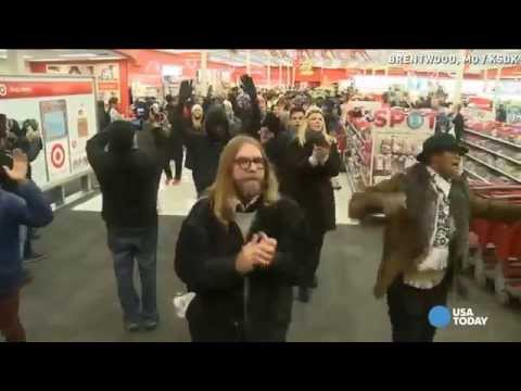Chanting boycotters protest at Ferguson-area Target