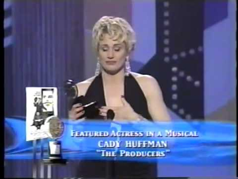 Cady Huffman wins 2001 Tony Award for Best Featured Actress in a Musical