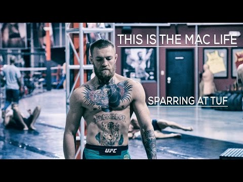 Conor McGregor sparring at The Ultimate Fighter gym in Las Vegas #TheMacLife