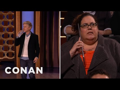 Ellen DeGeneres Surprises Conan's Audience - CONAN on TBS