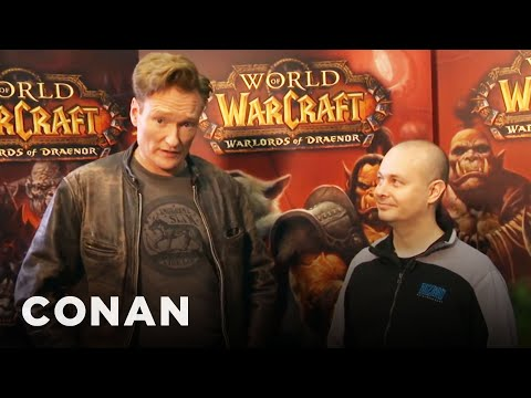 """Conan Plays """"World Of Warcraft"""" At BlizzCon '13"""