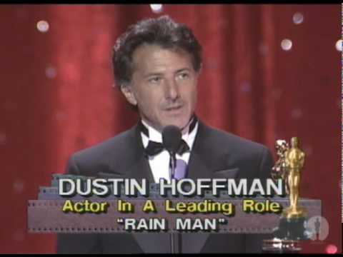 Dustin Hoffman Wins Best Actor: 1989 Oscars