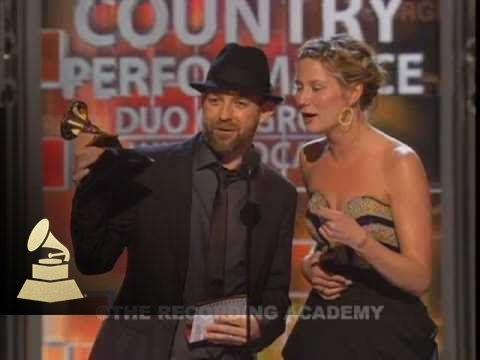 Sugarland accepting the GRAMMY for Best Country Performance at the 51st GRAMMYs
