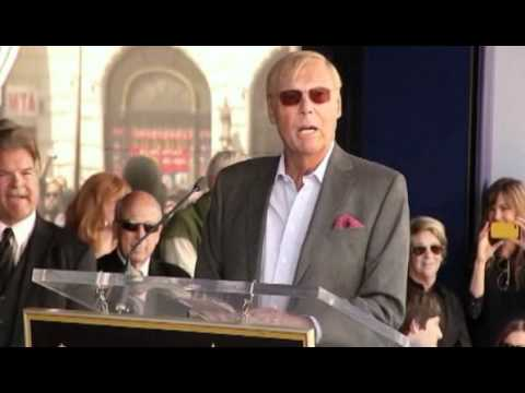 Adam West Hollywood Walk of Fame Ceremony and Speech