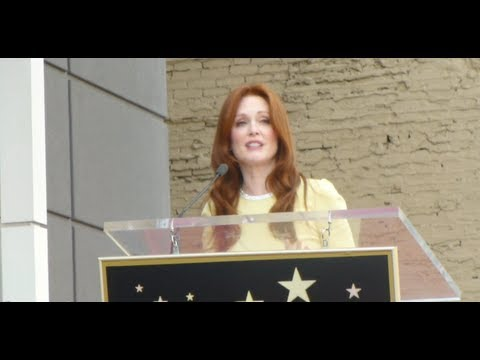 Julianne Moore Honored with Star at the Hollywood Walk of Fame