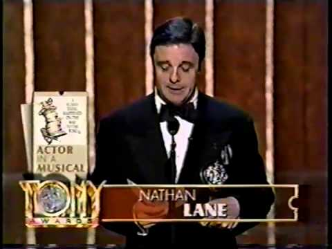 Nathan Lane wins 1996 Tony Award for Best Actor in a Musical
