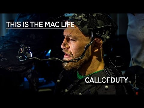 Conor McGregor filming for Call of Duty: Infinite Warfare #TheMacLife