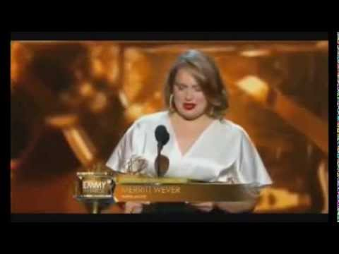 Merritt Wever Best Emmy Acceptance Speech Ever!!!