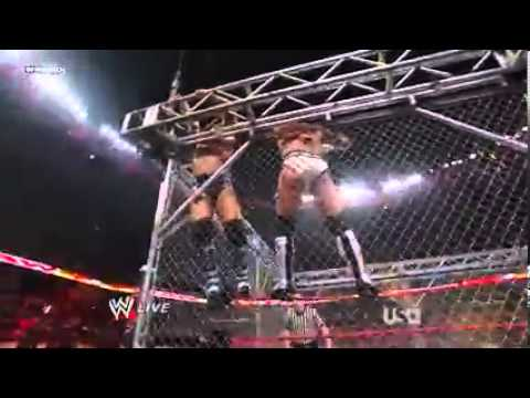 Raw 2008 Chris Jericho (C) Vs CM Punk Cage Match World Heavyweight Title
