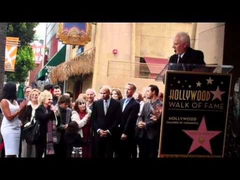 Malcolm McDowell comments on Hollywood Walk of Fame star