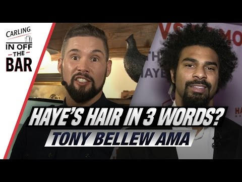 Describe David Haye's hair in 3 words | Tony Bellew AMA