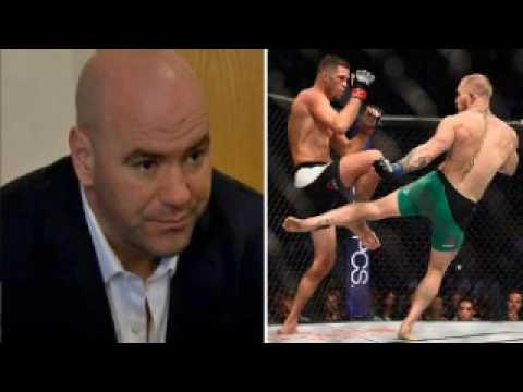 Dana White - Conor's leg is still hurt I told him not to fight but he said are you the doctor