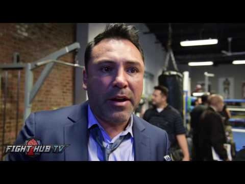 "Oscar De La Hoya ""Only fight that makes sense, McGregor vs. Canelo! At 160!"""