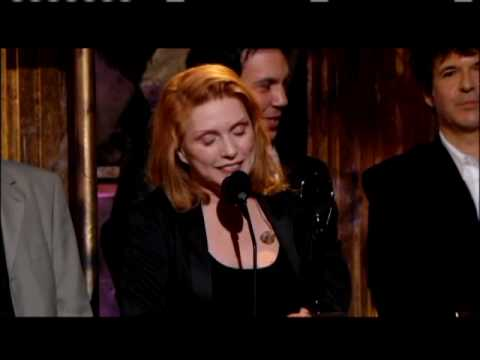 Blondie accepts award Rock and Roll Hall of Fame inductions 2006