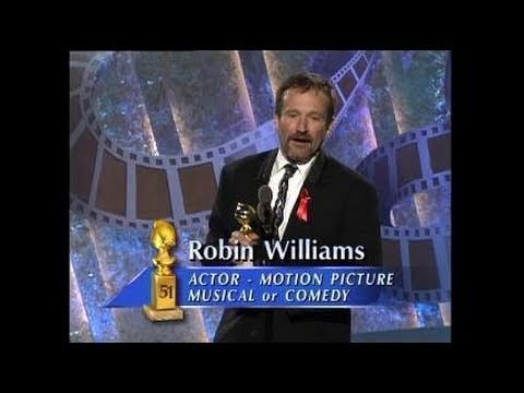 Robin Williams Wins Best Actor Motion Picture Musical or Comedy - Golden Globes 1994