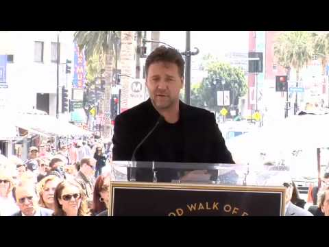 Russell Crowe Hollywood Walk of Fame Star Ceremony