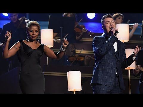 "Sam Smith Emotional ""Stay With Me"" Grammys 2015 Performance with Mary J Blige"