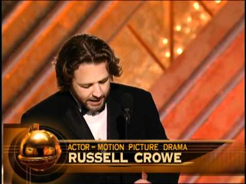 Les Miserables Star Russell Crowe Wins Best Actor Motion Picture Drama - Golden Globes 2002