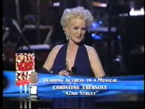 Christine Ebersole wins 2001 Tony Award for Best Actress in a Musical