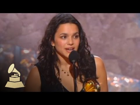 Norah Jones accepting the GRAMMY for Best New Artist at the 45th GRAMMY Awards