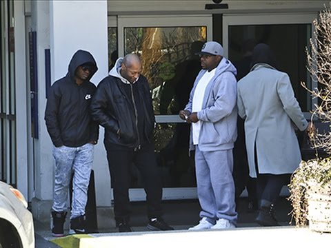 Raw: Bobby Brown Outside of Emory Univ. Hospital