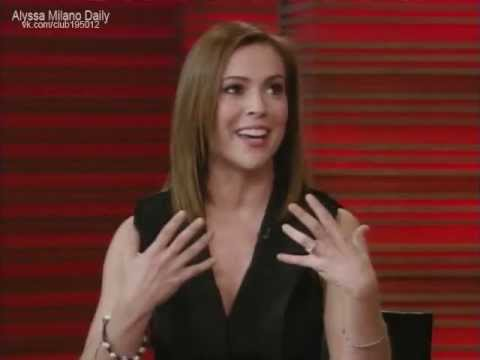 Alyssa Milano on Live with Regis and Kelly (2010.12.06)