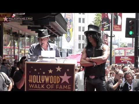 SLASH HONORED WITH HOLLYWOOD WALK OF FAME STAR