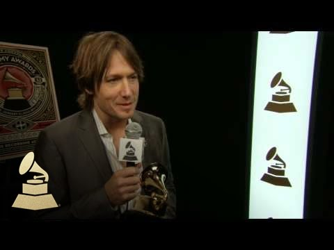 Keith Urban backstage at the 52nd GRAMMYs