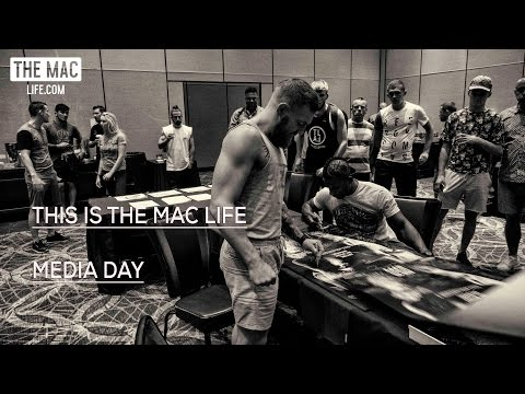 Conor McGregor: Behind the scenes at UFC 202's media day in The Red Rock #TheMacLife