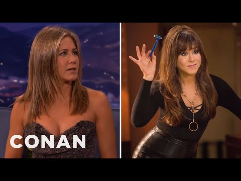 Jennifer Aniston's Risqué Necklace - CONAN on TBS