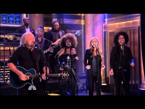 Barry Gibb Jive Talkin' On Jimmy Fallon 05 21 14